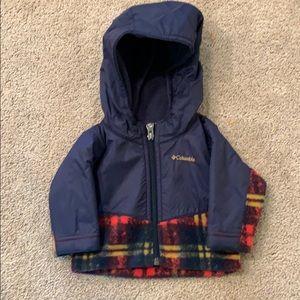 Boys Columbia coat (fleece) size 0-3 month